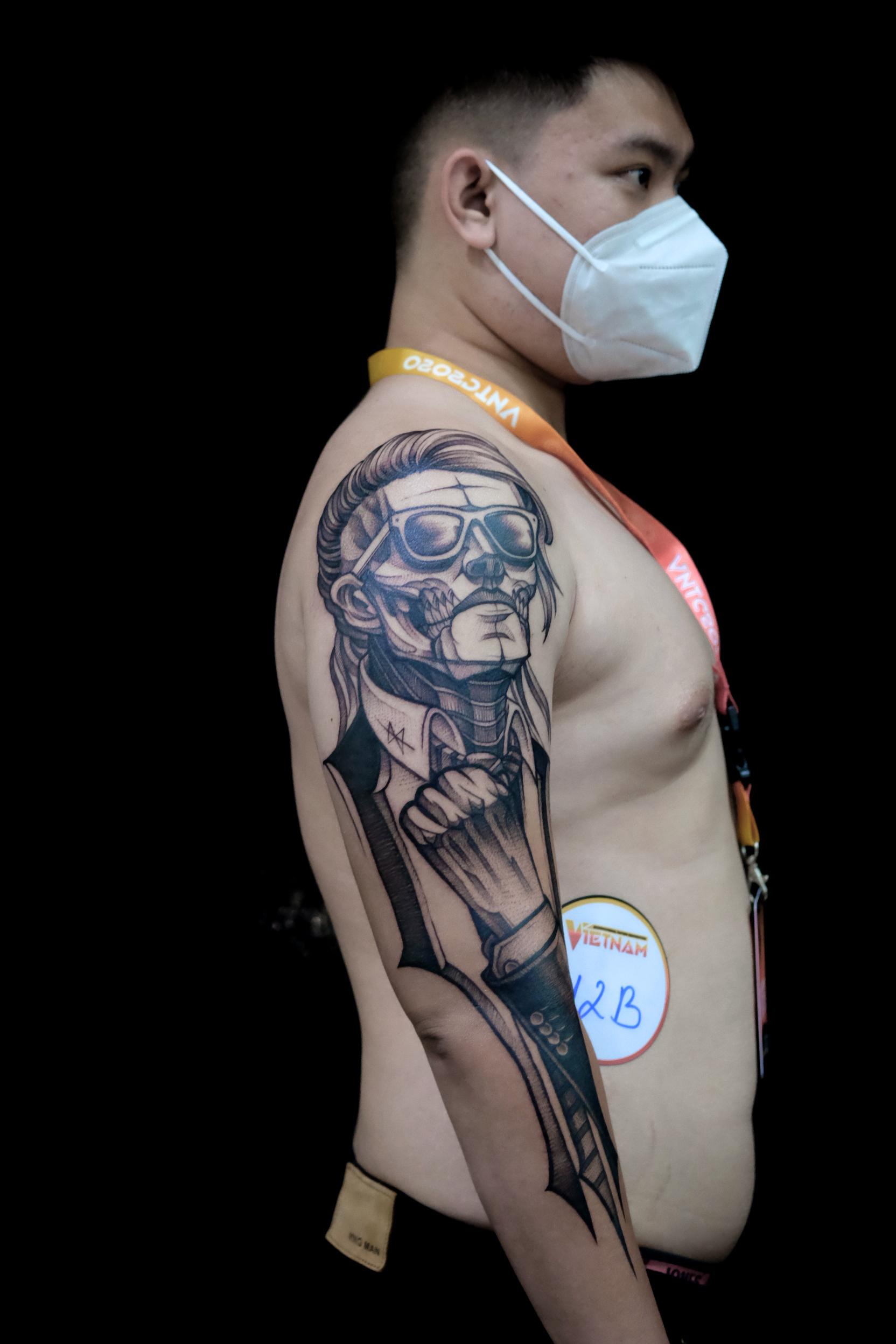 Giải Nhất Best Of The Day BlackWork tại VietNam Tattoo Convention 2020