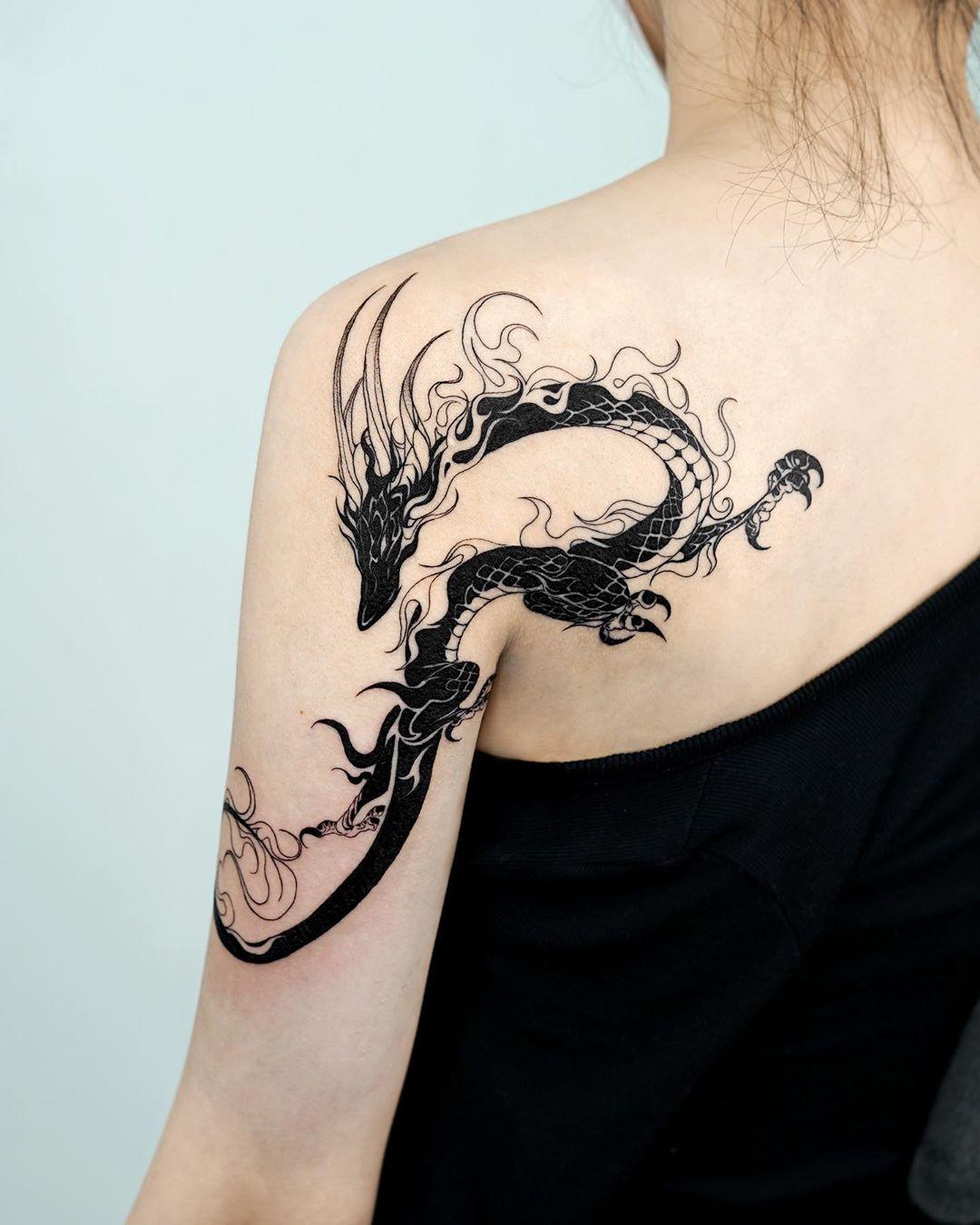 Hình xăm rồng đẹp